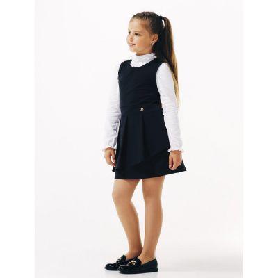 Сарафан школьный для девочки 120228 черный ТМ Smil
