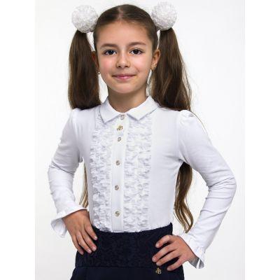 Блуза трикотажная для девочки ТМ Смил 114419 (молочный)