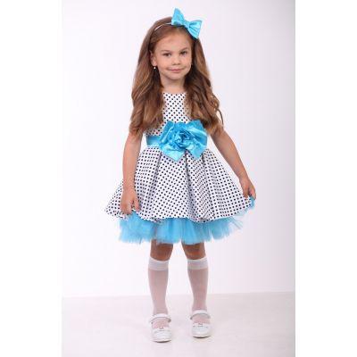 Нарядное платье для девочки стияги 9710-1 пышное