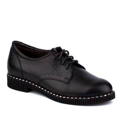 Туфли - полуботинки кожанные для девочки 61180-1 ТМ Шаговита