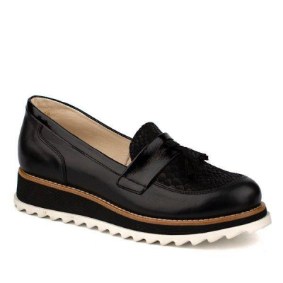 Туфли - полуботинки кожанные для девочки 61183-1 ТМ Шаговита