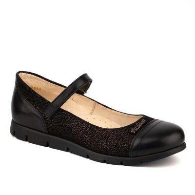 Туфли кожанные для девочки 63220 черные ТМ Шаговита