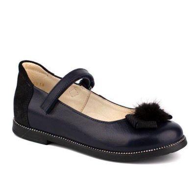 Туфли кожаные для девочки 43182 черные ТМ Шаговита
