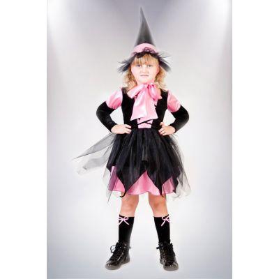 Карнавальный костюм для девочки Ведьмочка №5 малиновая ТМ Сашка