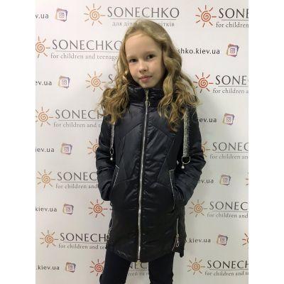 Куртка демисезонная для девочки черная 6938