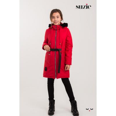 Куртка для девочки Энни красная ТМ Suzie