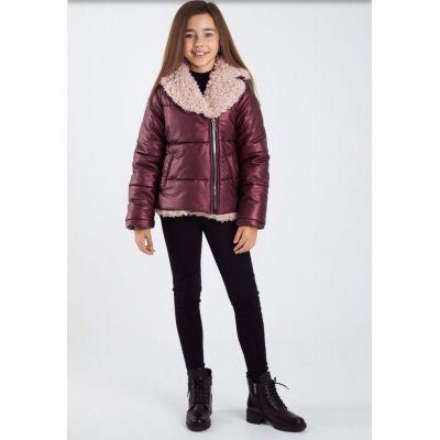 Куртка для девочки Лори КТ-31915 бордо ТМ Suzie