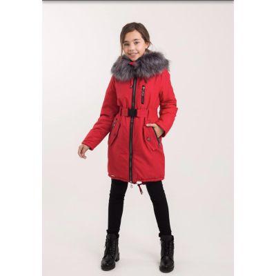 Куртка для девочки Рейли красная ТМ Suzie