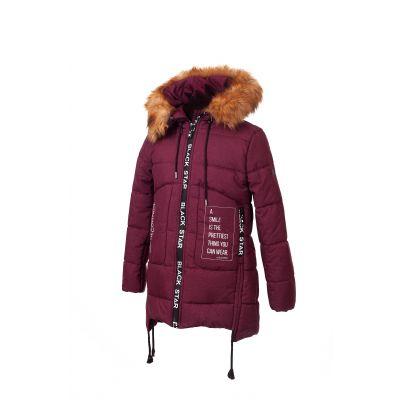 Куртка для девочки KR 08 бордо ТМ Alfonso