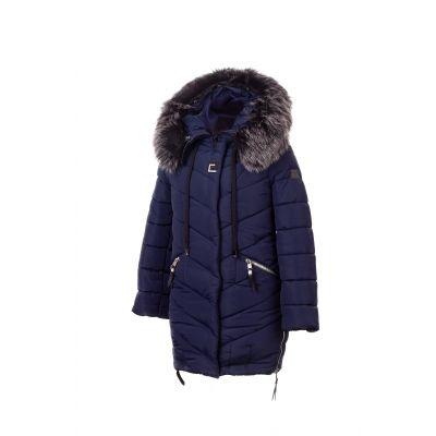 Куртка для девочки 934 синяя ТМ Alfonso