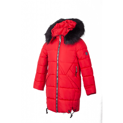 Куртка для девочки KR 06 красная ТМ Alfonso
