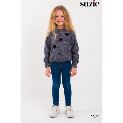 Свитшот для девочки Винсенза синий ТМ Suzie