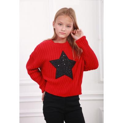 Свитшот для девочки 3727 красный ТМ Marions