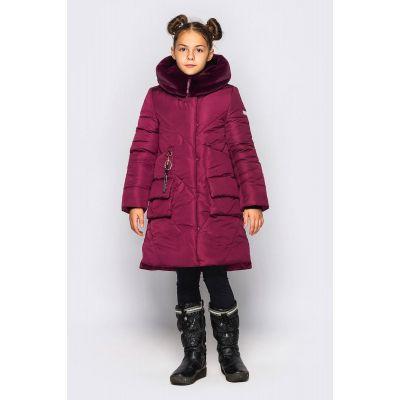 Пальто для девочки Мелания фиолет ТМ Cvetkov