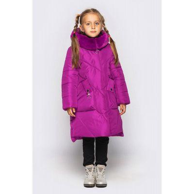 Куртка для девочки Мальвина фиолетовая CVETKOV