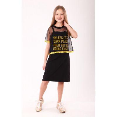 Комплект для девочки 9174 черный ТМ Marions