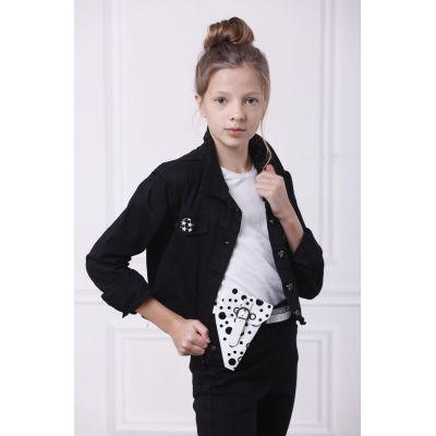 Джинсовая куртка 17098 черный ТМ A-Yugi Jeans