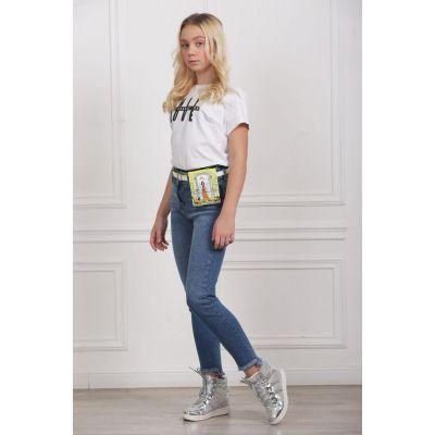 Джинсы для девочки 9184 ТМ A-Yugi Jeans