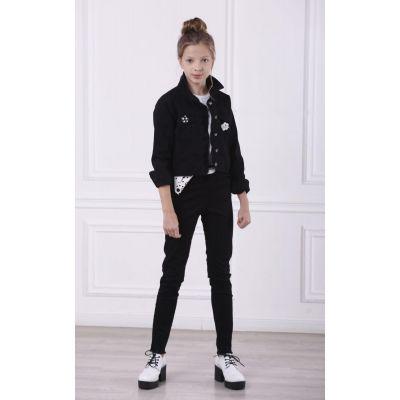 Брюки для девочки Котон 9179 черный ТМ A-Yugi Jeans