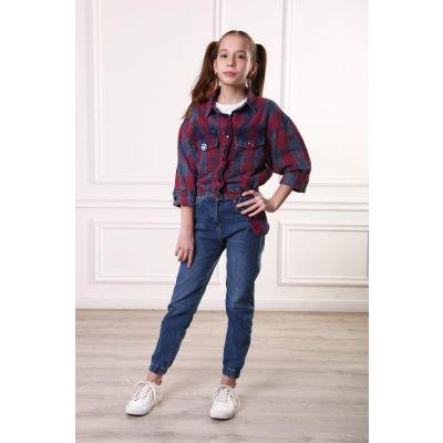 Джинсы для девочки МОМ 9182 ТМ A-Yugi Jeans