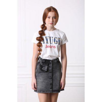 Джинсовая юбка для девочки 9172 серый ТМ A-Yugi Jeans