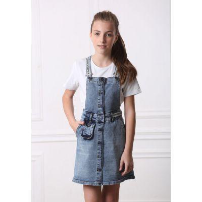 Джинсовый сарафан для девочки 9173 ТМ A-Yugi Jeans