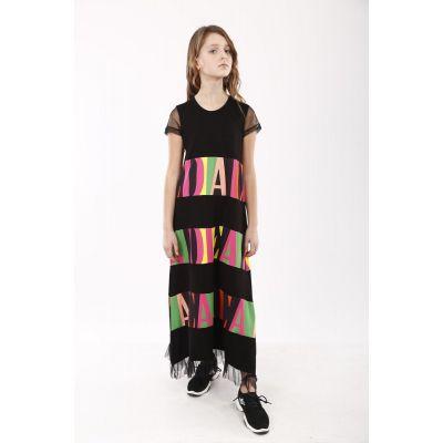 Платье для девочки 2082 черный ТМ Marions