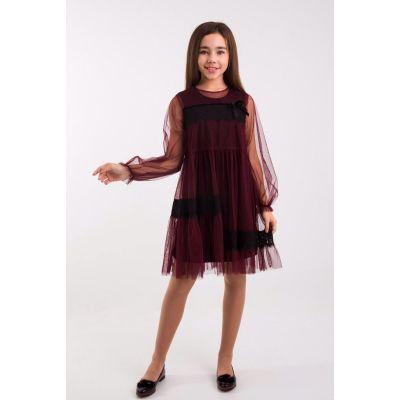 Платье для девочки Джиорджина марсала ТМ Suzie