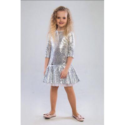 Платье для девочки Илэрия серебро ТМ Suzie