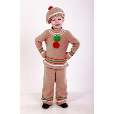 Карнавальный костюм для мальчика Пряник (Пряничный человечек) ТМ Sonechko
