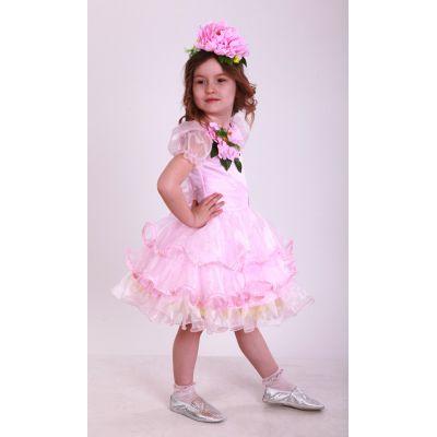 Карнавальный костюм для девочки Цветочек розовый Пион