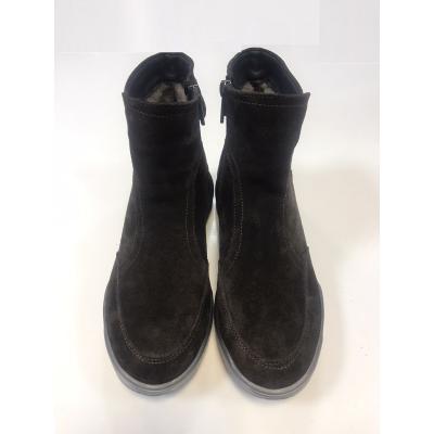 Ботинки замшевые для девочки 15 коричневый