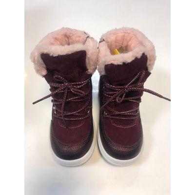 Ботинки для девочки Н188 бордовый ТМ Clibee