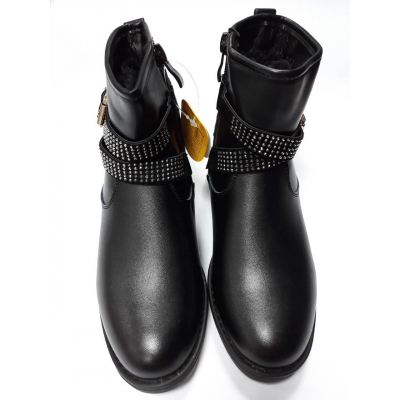 Ботинки черные для девочки К58