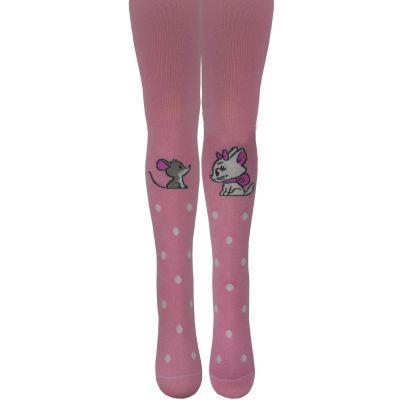 Колготки для девочки 8200 розовые ТМ Легка Хода