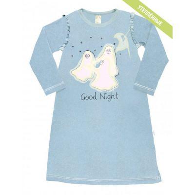 Сорочка ночная для девочки голубая 104352 ТМ SMIL
