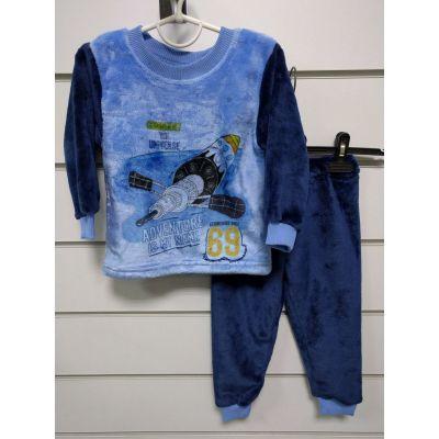 Пижама утеплённая для мальчика Космос 245-21 ТМ Lotex