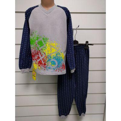 Пижама утеплённая для мальчика Абстракция 11889  GABBI,  Украина