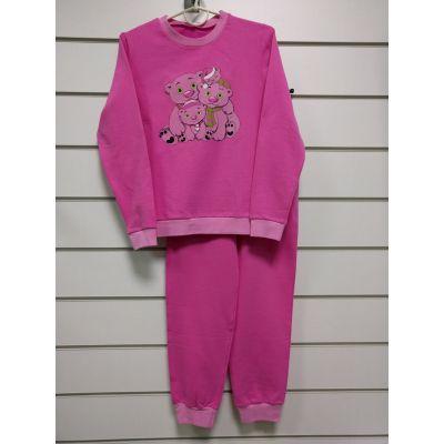 Пижама утеплённая подростковая малиновая 838-32 ТМ NEL