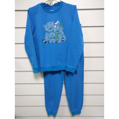 Пижама утеплённая подростковая бирюза 838-32 ТМ NEL