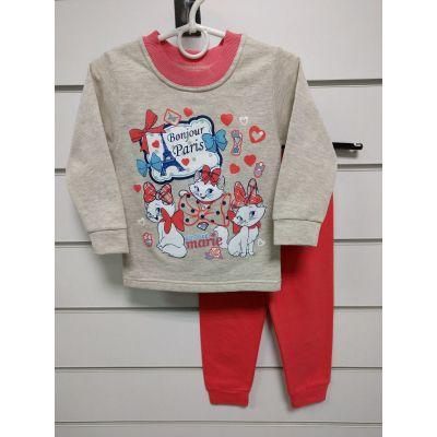 Пижама утеплённая для девочки Три кошки 245-14 ТМ LOTEX