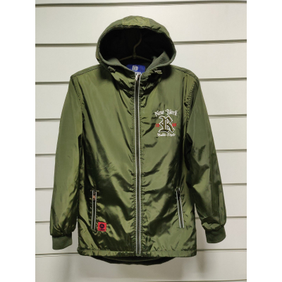 Куртка ветровка для мальчика хаки XY-22