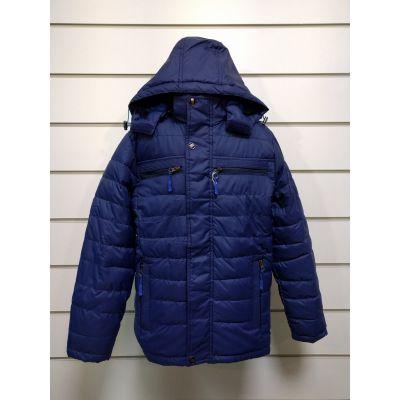 Куртка демисезонная для мальчика синяя 3308