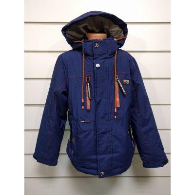 Куртка демисезонная для мальчика т.синяя 809