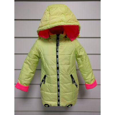 Куртка ветровка для девочки салатовая 1713