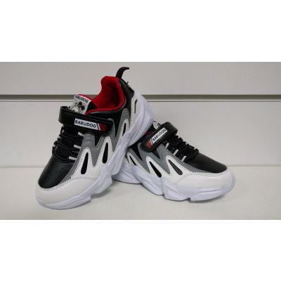 Кроссовки 618 бело-черные