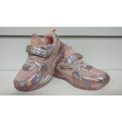 Кроссовки F905 розовые светящиеся ТМ Clibeе