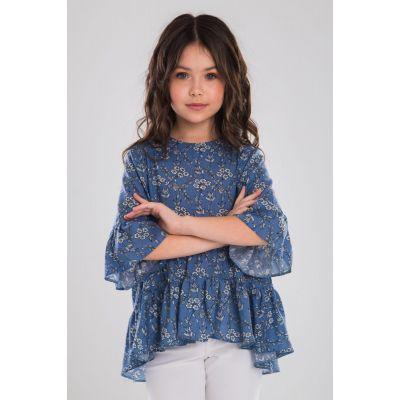 Блуза Тиша синяя ТМ Suzie