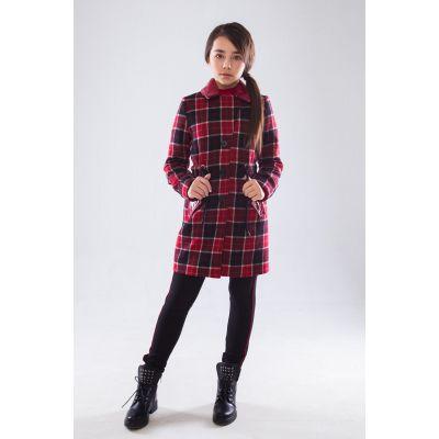Пальто 92008 Лаура красное ТМ  Suzie
