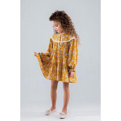 Платье 19013 Амели горчица ТМ Suzie